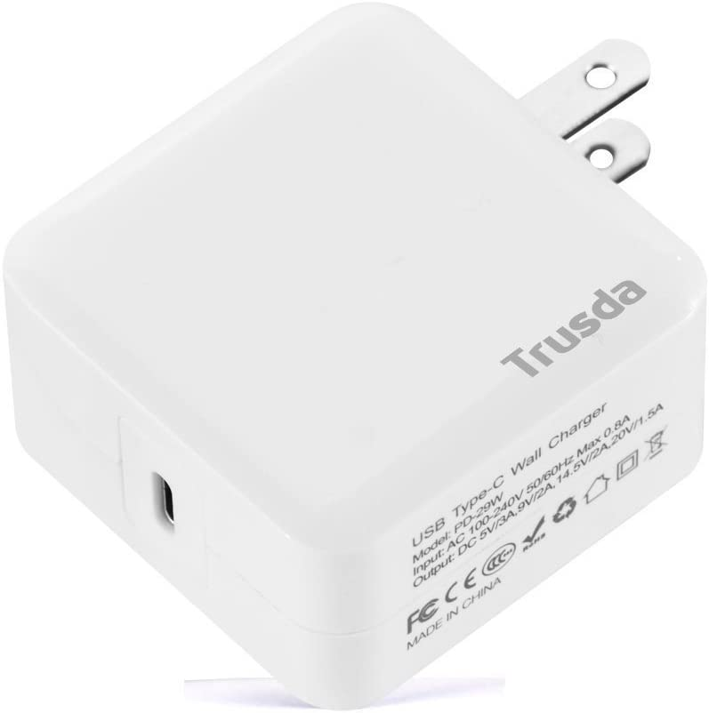 USB Type-C PD Charger, 29W Power Delivery USB C Wall Charger Adapter Foldable Plug for MacBook, iPhone 11/XS/XSMax/XR/X/8/8 Plus, iPad pro,Samsung Galaxy S10/S9/S9+/S8/S8+,Note8