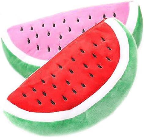 fablcrew Cute sandía estuche de peluche Monedero cremallera cosméticos bolsa oficina escuela suministro 2pcs: Amazon.es: Hogar
