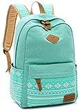 Laptop School Backpack Girls Bookbags Schoolbag for Teens University Travel Daypack (Mint Green-003)