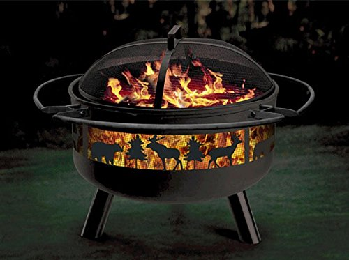 Solid-Steel Fire Pit/Grill Combo For Sale
