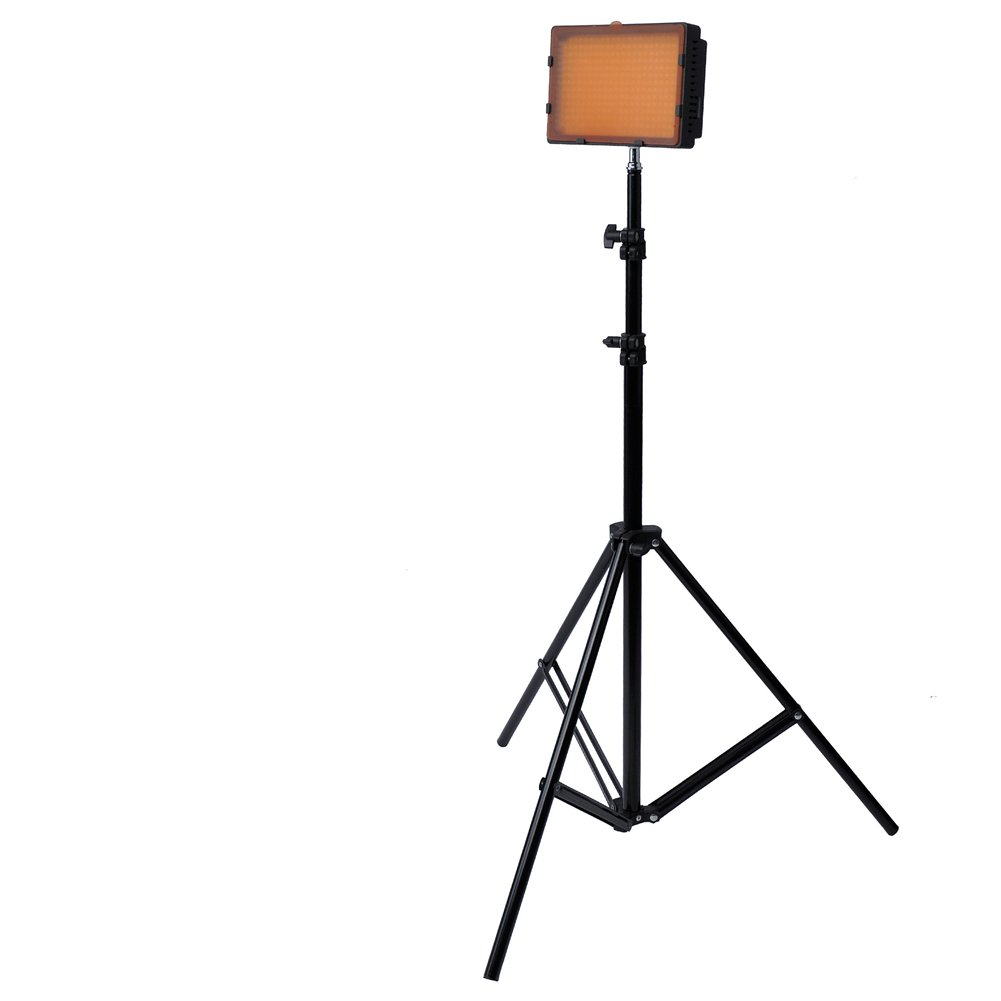 Neewer Photography 304 LED Studio Lighting Kit, including (1) CN-304 Dimmable Ultra High Power Panel Digital Camera DSLR Camcorder LED Video Light (1)75'/190cm Tall Studio Photography Light Stand 90082122@@##1
