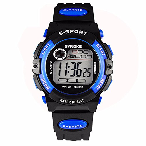 Chic Kid Boy Girl Water Resistant Sports for Student Electronic Wrist Watch Children