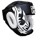 Farabi Boxing Head Guard MMA Muay thai Helmet protector kickboxing Head Gear Real Leather (small)