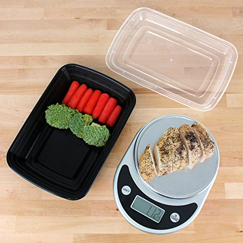 freshware meal prep containers 15 pack 1 compartment with import it all. Black Bedroom Furniture Sets. Home Design Ideas