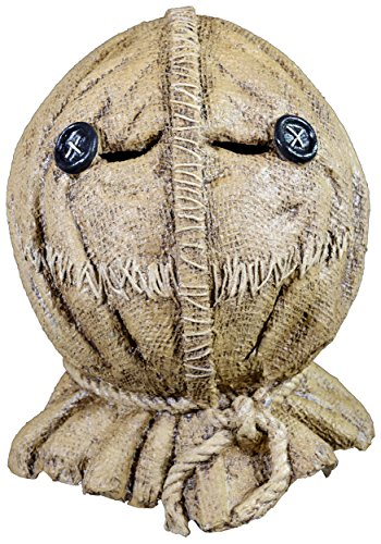 Trick Or Treat Mask (Trick or Treat Studios Men's Trick R Treat-Sam Burlap Full Head Mask, Multi, One Size)