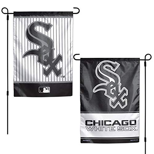 WinCraft MLB Chicago White Sox 12x18 Garden Style 2 Sided Flag, One Size, Team Color ()
