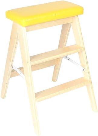 LSXLSD Escalera Plegable de Madera Maciza. Espesor Interior. Desmontable. Asiento del Asiento. Decoración. Escaleras pequeñas multifuncionales. Escalera de Escritorio de casa de Madera Maciza.: Amazon.es: Hogar