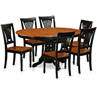East West Furniture AVPL7-BCH-W 5 Piece Dinette Table and 4 Chairs Set