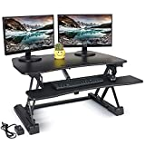 electric adjustable desk - Electric Standing Desk Converter – FEZIBO 36
