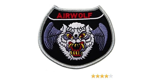 Airwolf Helicóptero años 80 TV Bell 222 3 1/2 pulgadas bordado ...