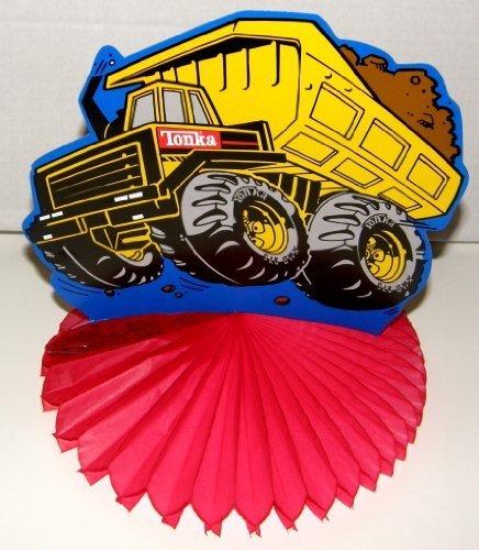 Tonka Dump Truck Honeycomb Centerpiece, Set of 3 -