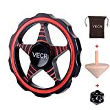 Vecr Finger Gyro Fidget Hand Spinner Relieve Stress Toy For kids and Adult Anti-Anxiety Autism Killing Time (Round - Red / Black)