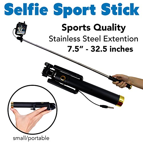 sleep more selfie stick for iphone 5 6 6 plus and android smartphones ame. Black Bedroom Furniture Sets. Home Design Ideas