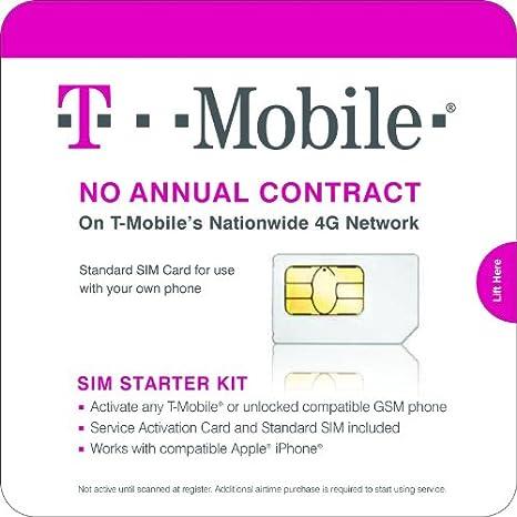Amazon.com: T-mobile Complete SIM Starter Kit – sin contrato ...