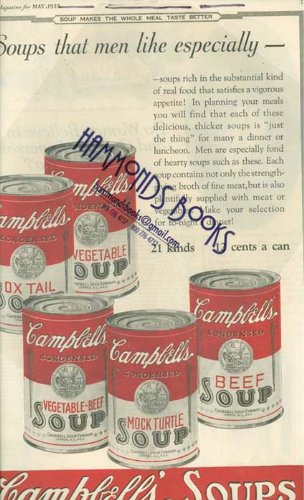 Campbells Soup Magazine - Advertisement: Campbells Soups -