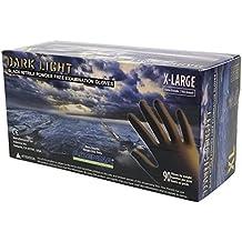 Adenna Dark Light 9 mil Nitrile Powder Free Exam Gloves (Black, X-Large) Box of 100 - Pack of 2 …