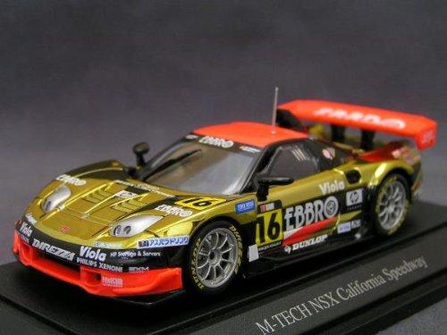 1/43 M-TEC NSX All Star カリフォルニア・スピードウェイ JGTC 2004 EBBRO #16(ゴールド) 「オートバックス GT 2004シリーズ」 43670