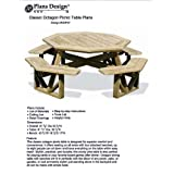 Classic Large Octagon Picnic Table/Bench Woodworking Project Plans Pattern #ODF07
