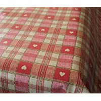 Karina Home Sweetheart Check Red Wipe Clean PVC Tablecloth