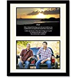 Gift for Dad - Touching Poem From Daughter or Son - Birthday or Christmas - 8x10 Inch Frame with Mat - Add Photo