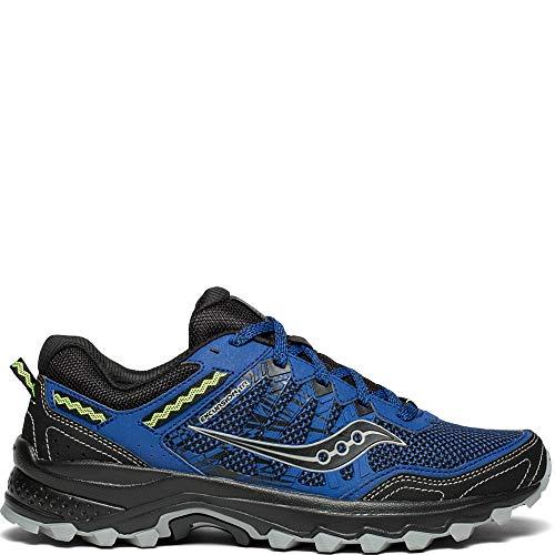Saucony Men's Excursion TR12 Sneaker, Blue/Black, 11 M - Shoes Mens Black Trail Running