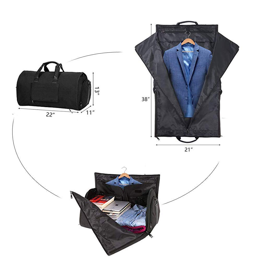 AORAEM Suit Travel Bag Carrier Luggage Cover Duffel Bag for Men Women  Overnight Weekend Flight Bag fb1c13cb10832