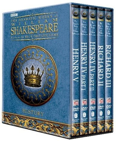 BBC Shakespeare Histories DVD Giftbox (Henry IV Parts 1 and 2, Henry V, Richard II and Richard III) by PBS