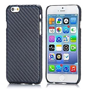 LIMME Carbon Fiber Pattern Leather Coated Hard PC Back Cover for iPhone 6(Assorted Colors) , Black