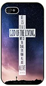 Jesus Christ cross - Stars in sky - He is the God of the living - Bible verse iPhone 5 / 5s black plastic case / Christian verses