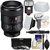 Sony Alpha E-Mount FE 100mm f/2.8 STF GM OSS Lens with Flash + 3 UV/CPL/ND8 Filters + Soft Box + Diffuser + Kit