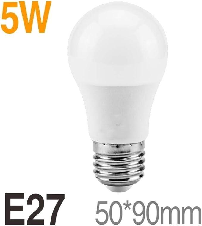 Bombilla Campana Extractora 6 piezas 220V LED Bombilla Lámparas 5W 9W 12W 15W 18W E27 Bombilla LED Smart IC Energía real Alto brillo Lampada LED Bombilla Lighting-Blanco frio_15W E27: Amazon.es: Iluminación