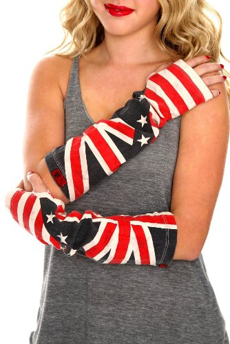 (Tripp Flag Washed Arm Warmers Union Jack & Stars Red White Blue)