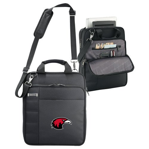 Simpson University Kenneth Cole Black Vertical Checkpoint Friendly Messenger 'Primary Mark' by CollegeFanGear