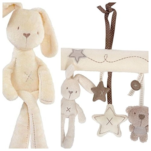 Infant Newborn Baby Pram Bed Bells Soft Hanging Toys Animal Handbells (Infant Newborn Stuffed Toy)