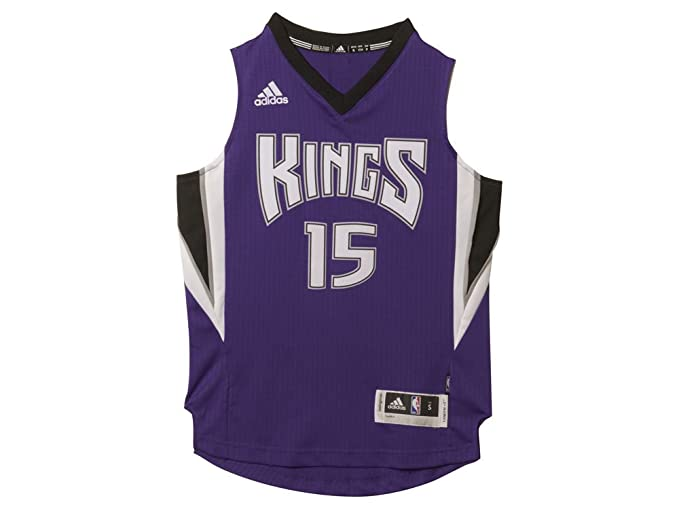 ee0f8eb1d434 DeMarcus Cousins Sacramento Kings  15 Purple NBA Youth Adidas Swingman  Jersey (Small 8)