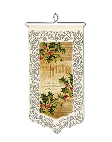 Heritage Lace Christmas Holly Wall Hanging, 12