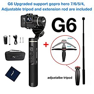 Feiyu G6 handheld gimbal for Gopro hero6/5/4 with Adjustable Tripod and Extension Rod