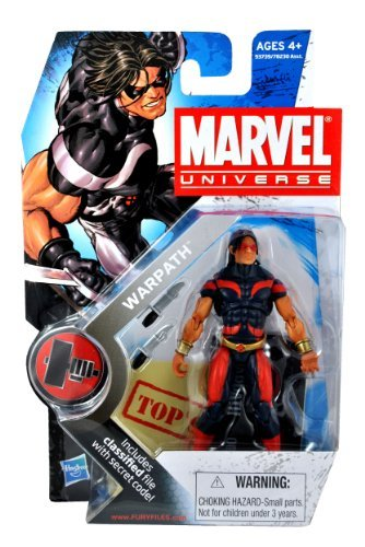 Marvel Universe Year 2009 Series 2 HAMMER Single Pack 4 Inch Tall Action Figure #3 - Black and Red Suit Variant WARPATH (James Proudstar) with Twin
