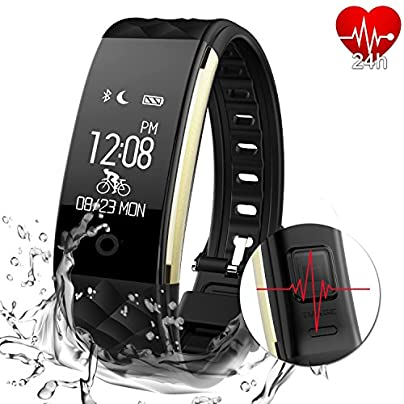 AGPTEK Fitness Tracker for Women Activity Heart Rate Monitor Smart Wristband with Pedometer Sleep Monitor Step Calorie Call SMS Reminder for iPhone X 8 8plus 7 Samsung S8 note Black Estimated Price £18.99 -