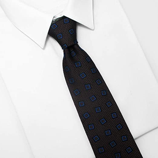 Corbata para hombre y clip de corbata para hombre, Jacquard azul ...