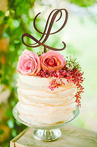 Wedding Cake Topper Letter L Cake Topper Unique Cake Topper