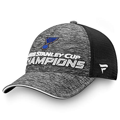 Football Fanatics St. Louis Blues 2019 Stanley Cup Champions Locker Room Trucker Adjustable Hat from Football Fanatics