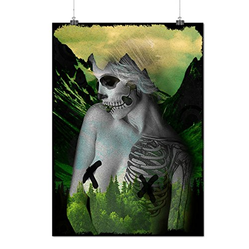 [Forest Skeleton Lady Dead Sexy Matte/Glossy Poster A3 (12x17 inches) | Wellcoda] (Skeleton Costume Pose)