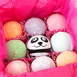 Sweet & Sassy Bath Bomb Gift Set for Girls & Teens. 8 Count Assorted.