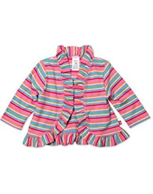 Infant and Little Girls Cotton Jersey Ruffle Shrugs in Size 12M to 3T