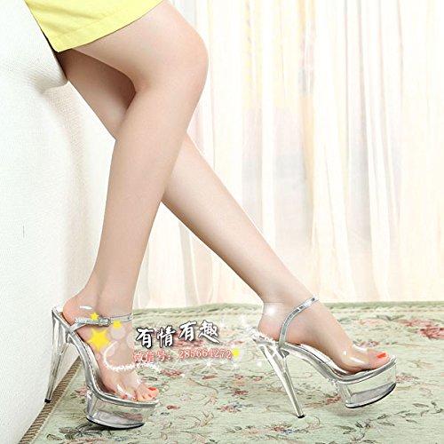 Transparente crystal schuhe 15 cm super - - - high - heels - 03ca96