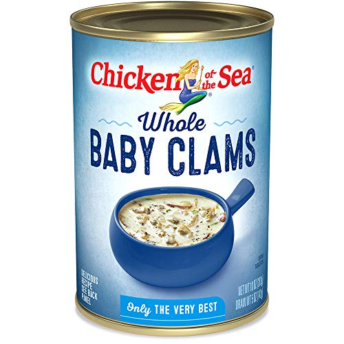 Chicken of the Sea Whole Baby Clams, 10 Ounce Cans (Pack of 12)
