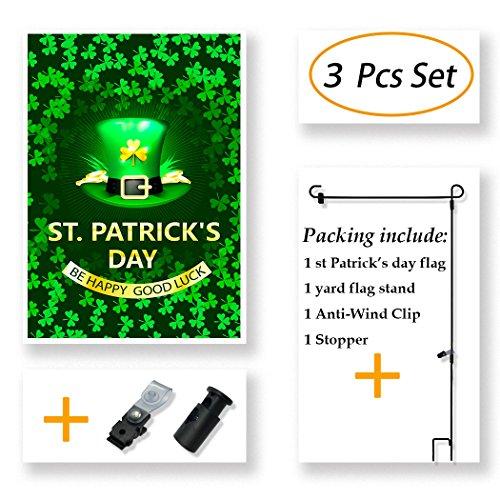 Flag Set (St Patricks Day Garden Flag Double Sided 12.5