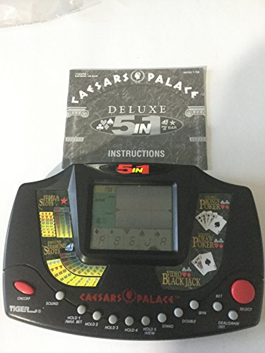 CAESARS PALACE DELUXE 5 IN 1 ELECTRONIC TALKING HANDHELD CASINO