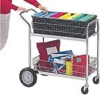 Charnstrom Medium Wire Basket Mail Office Cart